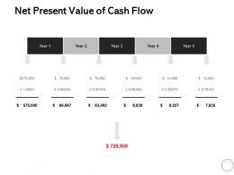 Net Present Value Of Cash Flow Ppt Powerpoint Presentation Model Master Slide