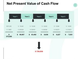 Net Present Value Of Cash Flow Year Ppt Powerpoint Presentation Styles Layout