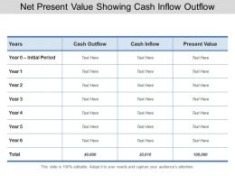 Net Present Value Showing Cash Inflow Outflow