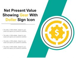 Net Present Value Showing Gear With Dollar Sign Icon