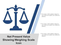 Net Present Value Showing Weighing Scale Icon