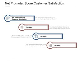 Net Promoter Score Customer Satisfaction Ppt Powerpoint Presentation Inspiration Show Cpb