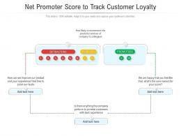 Net Promoter Score To Track Customer Loyalty