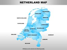 Netherland Map Powerpoint Maps