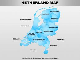 Netherland Powerpoint Maps