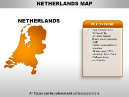 Netherlands Country Powerpoint Maps
