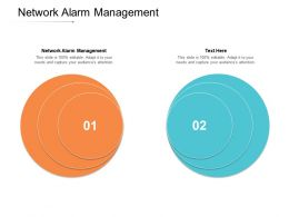 Network Alarm Management Ppt Powerpoint Presentation Graphics Cpb