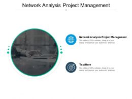 Network Analysis Project Management Ppt Powerpoint Presentation Outline File Cpb