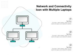 Network And Connectivity Icon With Multiple Laptops