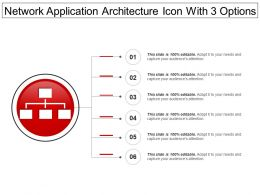 Network Application Architecture Icon With 3 Options