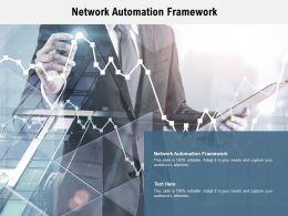 Network Automation Framework Ppt Powerpoint Presentation Inspiration Summary Cpb