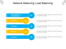 Network Balancing Load Balancing Ppt Powerpoint Presentation Show Graphics Example Cpb