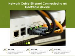 Network Cable Ethernet Connected To An Electronic Device