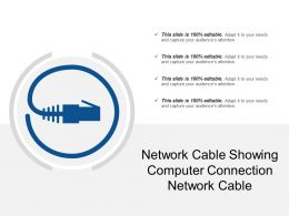 Network Cable Showing Computer Connection Network Cable