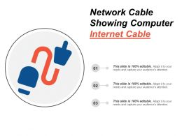 Network Cable Showing Computer Internet Cable