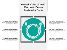 Network Cable Showing Electronic Device Multimedia Cable