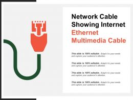 Network Cable Showing Internet Ethernet Multimedia Cable