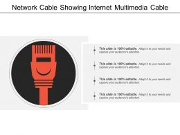 Network Cable Showing Internet Multimedia Cable
