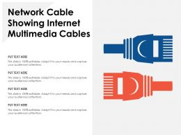 Network Cable Showing Internet Multimedia Cables