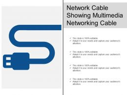Network Cable Showing Multimedia Networking Cable