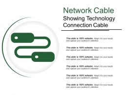 Network Cable Showing Technology Connection Cable