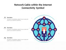 Network Cable Within The Internet Connectivity Symbol