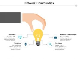 Network Communities Ppt Powerpoint Presentation Icon Professional Cpb