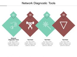 Network Diagnostic Tools Ppt Powerpoint Presentation Show Diagrams Cpb