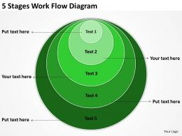 Network Diagram For Small Business 5 Stages Flow Powerpoint Templates