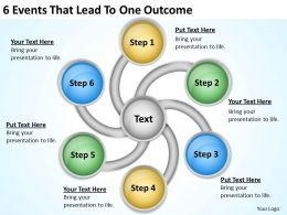 network_diagram_for_small_business_6_events_that_lead_to_one_outcome_powerpoint_templates_Slide01