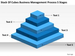 Network Diagram For Small Business Of Cubes Management Process 5 Stages Powerpoint Slides