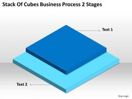 Network Diagram For Small Business Stack Of Cubes Process 2 Stages Powerpoint Slides