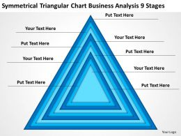 Network Diagram For Small Business Triangular Chart Analysis 9 Stages Powerpoint Slides