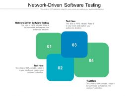 Network Driven Software Testing Ppt Powerpoint Presentation Styles Ideas Cpb