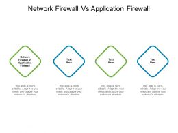 Network Firewall Vs Application Firewall Ppt Powerpoint Presentation Visual Aids Cpb