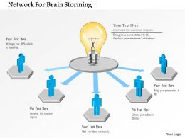 Network For Brain Storming Powerpoint Template