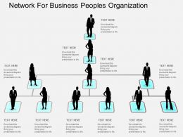 Network For Business Peoples Organization Flat Powerpoint Design