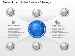 Network For Global Finance Strategy Powerpoint Template Slide