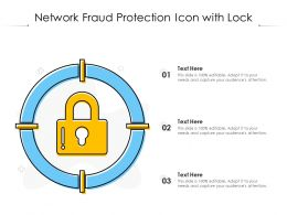 Network Fraud Protection Icon With Lock