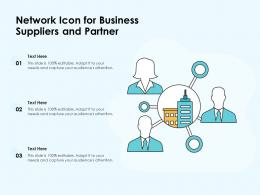 Network Icon For Business Suppliers And Partner