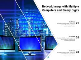 Network Image With Multiple Computers And Binary Digits
