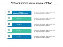 Network Infrastructure Implementation Ppt Powerpoint Presentation Pictures Graphics Download Cpb