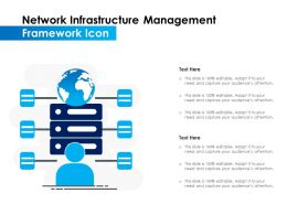 Network Infrastructure Management Framework Icon