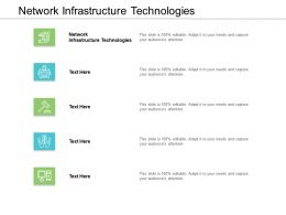 Network Infrastructure Technologies Ppt Powerpoint Presentation Outline Design Templates Cpb