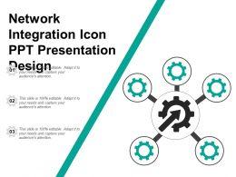 Network Integration Icon Ppt Presentation Design