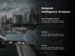 Network Intelligence Analysis Ppt Powerpoint Presentation Outline Graphics Design Cpb