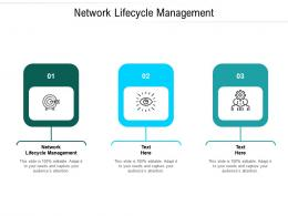 Network Lifecycle Management Ppt Powerpoint Presentation Summary Design Cpb
