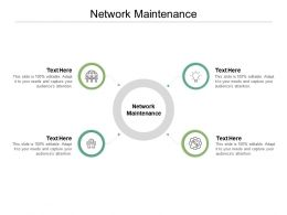 Network Maintenance Ppt Powerpoint Presentation Pictures Background Images Cpb