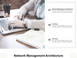 Network Management Architecture Ppt Powerpoint Presentation Infographic Template Cpb
