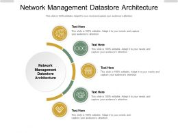 Network Management Datastore Architecture Ppt Powerpoint Presentation Inspiration Graphics Cpb